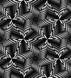 Le modèle polygonal monochrome sans couture miroitant doucement de la lumière aux tons foncés créent l'illusion de la profondeur  Photos stock