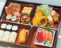 Le modèle réglé de sushi Photos stock