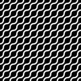 Le modèle sans couture abstrait avec le blanc ondule dans la disposition diagonale sur le fond noir Vecteur géométrique plat simp illustration stock