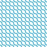 Le modèle sans couture abstrait avec le bleu ondule dans la disposition diagonale sur le fond blanc Vecteur géométrique plat simp illustration libre de droits