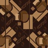 Le modèle sans couture abstrait en café modifie la tonalité avec du café de mot Illustration Stock