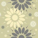 Le modèle sans couture avec la camomille fleurit sur le backgroun vert clair Photographie stock libre de droits