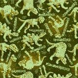 Le modèle sans couture de camouflage de Dinosaurus pour les garçons urbains conçoivent illustration stock