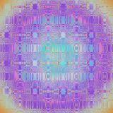 Le modèle sans couture de cercle avec des ellipses dentellent l'orange bleue violette de turquoise Images stock