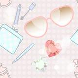 Accessoires de mode et cosmétiques Photographie stock libre de droits