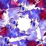Le modèle sans couture de l'aquarelle rose, bleue et pourpre éponge pour le fond illustration stock