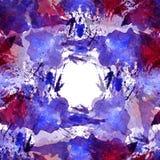 Le modèle sans couture de l'aquarelle rose, bleue et pourpre éponge pour le fond illustration de vecteur