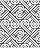 Le modèle sans couture de l'ornement Fond répété noir et blanc illustration stock