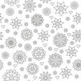 Le modèle sans couture de la circulaire ornemente des mandalas sur un blanc Image libre de droits