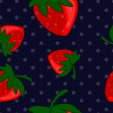 Le modèle sans couture de la fraise porte des fruits fond Image libre de droits