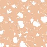 Le modèle sans couture de répétition d'automne de potiron de vecteur heureux d'impression rougissent dedans et blanc illustration stock