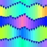 Le modèle sans couture de vecteur avec le bleu colorued de crayons modifie la tonalité Photos stock