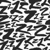 Le modèle sans couture de vecteur avec la calligraphie marque avec des lettres Z Photos stock