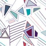 Le modèle sans couture de vecteur, cru a rayé le fond géométrique asymétrique avec le losange, triangles Copie pour le décor, pap illustration libre de droits