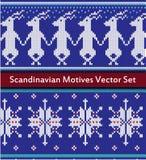 Le modèle sans couture de vecteur a placé dans des couleurs rouges, bleues et blanches Images stock