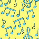 Le modèle sans couture des notes musicales Illustration de vecteur Photo stock
