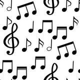 Le modèle sans couture des notes musicales Illustration de vecteur Image libre de droits