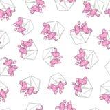 Le modèle sans couture enveloppe l'arc rose Image libre de droits