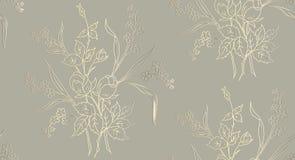 Le modèle sans couture floral peut être employé pour le papier peint, impression de tissus, carte illustration de vecteur des ros illustration stock