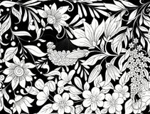 Le modèle sans couture, fond avec le ressort fleurit la magnolia, sak Image libre de droits