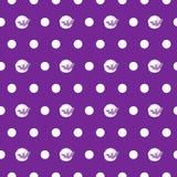 Le modèle sans couture Halloween manie la batte sur la lune avec des points de polka Images libres de droits
