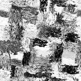 Le modèle sans couture noir et blanc avec la bande dessinée barrée par grunge a épongé des éléments Image libre de droits