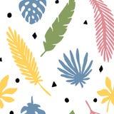 Le modèle sans couture part du palmier illustration libre de droits