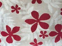 Le modèle sur la fleur de tissu Image stock