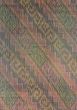 Le modèle sur le textile tissé photo libre de droits