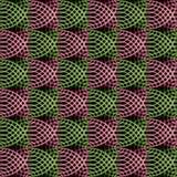Le modèle tridimensionnel complexe des cercles et des spirales Photo stock