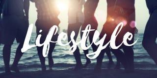 Le mode de vie de culture de mode de vie intéresse le concept d'habitudes de passion image stock