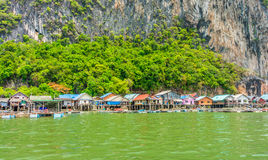 Le mode de vie du village local en baie de Phang Nga Images libres de droits