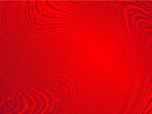 Le moirage rouge ondule le fond abstrait Photographie stock libre de droits