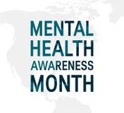Le mois de conscience de santé mentale, dirigent le style plat illustration libre de droits