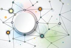 Le molecole astratte e 3d incartano, integrato i cerchi illustrazione di stock