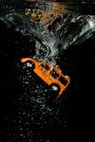 Le moment de la submersion Image stock