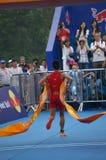 Le moment sprinting Photo libre de droits