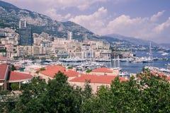 Le Monaco et marina. Image stock