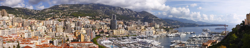 Le Monaco panoramique Images libres de droits