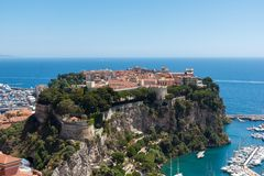 Le Monaco-Ville Le Rocher, vieille ville Photographie stock