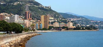 Le Monaco - vue panoramique de Monte Carlo Photo stock