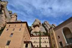Le monastère bénédictin de Montserrat (Monasterio de Montserra Photo libre de droits