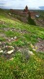 Le monastère chrétien arménien de Khor Virap images stock