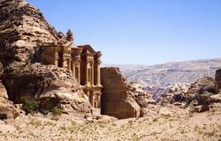 Le monastère dans la ville antique de PETRA Photos libres de droits