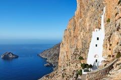 Le monastère de Hozoviotissa dans Amorgos, Grèce Images stock