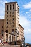 Le monastère de Montserrat dans les montagnes s'approchent de Barcelone, Espagne Image libre de droits