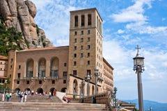Le monastère de Montserrat dans les montagnes s'approchent de Barcelone, Espagne Images libres de droits