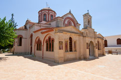Le monastère de Panagia Kalyviani sur l'île de Crète, Grèce Photographie stock libre de droits