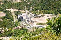 Le monastère de Paul sacré, Athos Images stock
