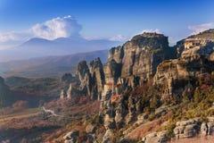 Le monastère de Rousanou, Grèce Photo libre de droits